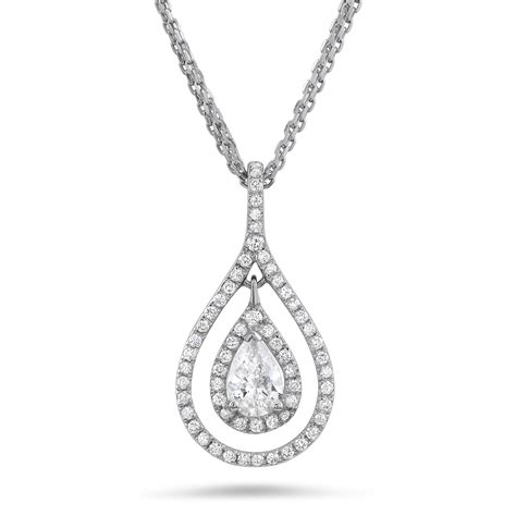 Beautiful pear cut diamond necklace ? Diamondland