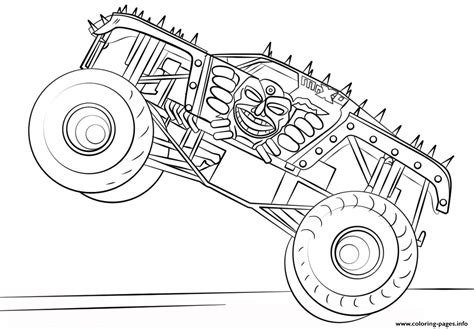bigfoot monster truck coloring pages max d monster truck bigfoot coloring pages printable