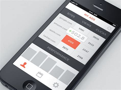 design app table flat mobile ui design with remarkable user experience