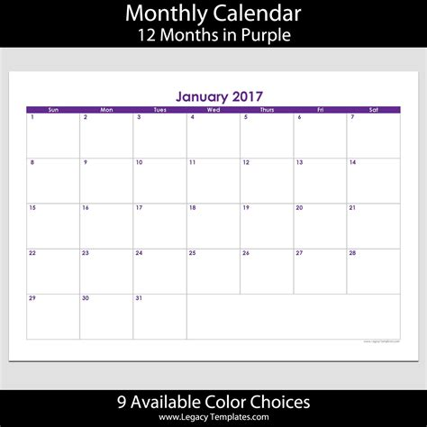 2017 calendar templates for cards 2017 12 month landscape calendar a5 legacy templates