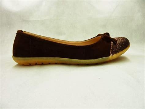 Flat Suede Pita suede glitter flat shoe bs 17 isrin and okada grosir