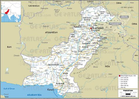 road map from usa to pakistan pakistan roads map