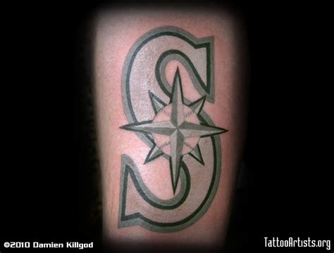 mariners cross tattoo seeattle mariners pictures to pin on tattooskid