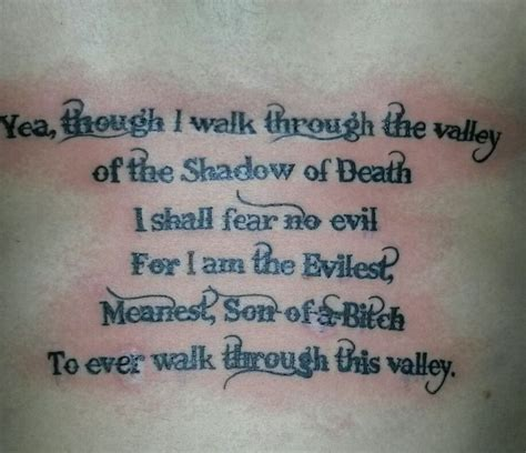 yea though i walk through the valley tattoo 320 best in the skin images on line tattoos