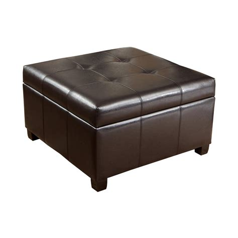 storage leather ottoman best selling home decor richmond espresso leather storage