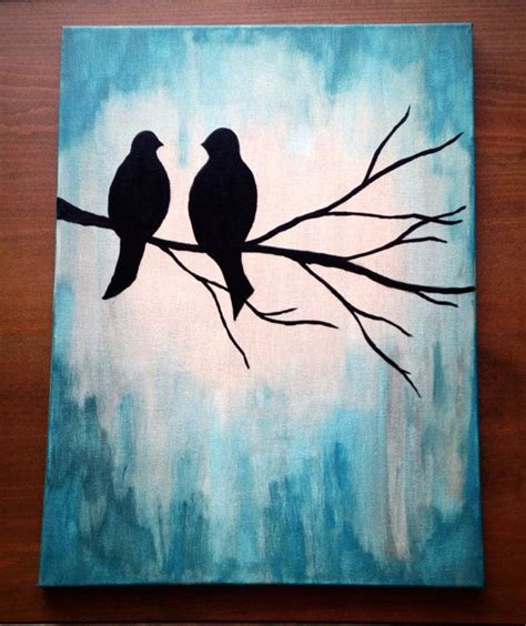 acrylic painting ideas for adults 25 best ideas about bird canvas paintings on