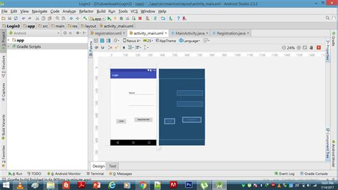 android studio layout design view in android studio design of app in real device changes