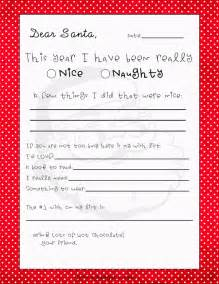 Christmas Letter To Santa Template Gallery For Gt Blank Santa Letter Template