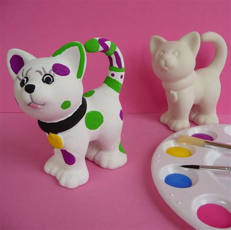 children s painting cat children s pottery painting cat idea kidz
