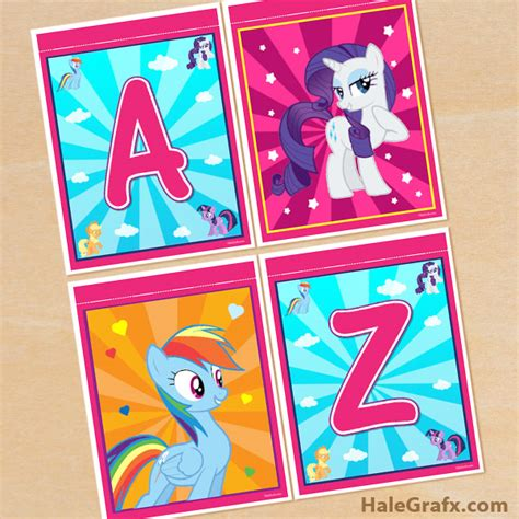 printable birthday banner my little pony free printable my little pony alphabet banner pack