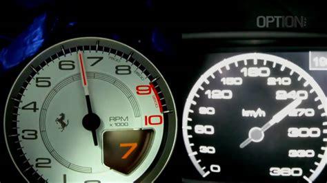 ferrari speedometer 290 km h en ferrari 458 italia oakley design option auto