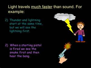 what travels faster light or sound