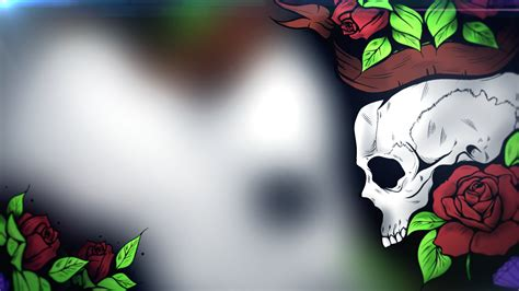 wallpaper skull flower wallpaper flower skull deathcore skull and flowers