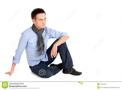 Sitting On by Casual Sitting On The Ground Stock Image Image 13708199