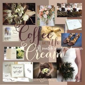 coffee with cream wedding colour schemeivy ellen wedding invitations 171 ivy ellen luxury wedding