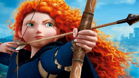 wallpaper princess merida brave animation disney
