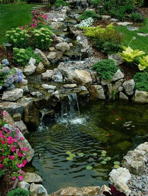 small backyard waterfalls 75 relaxing garden and backyard waterfalls digsdigs