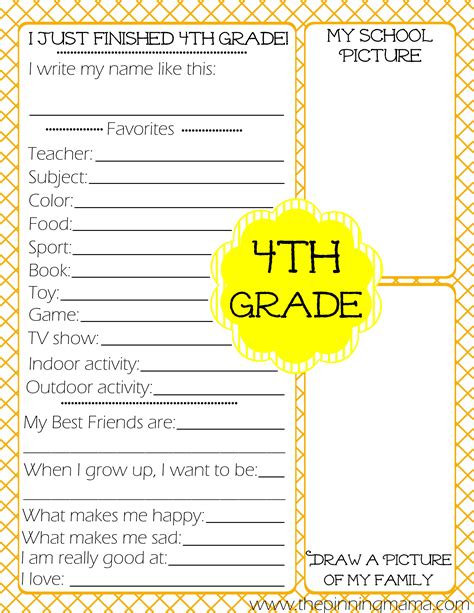 new year activities for 4th grade free printables kid s end of school year the