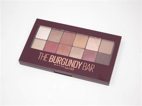Eyeshadow Palette Maybelline maybelline burgundy bar eyeshadow palette review swatches and cosmetics