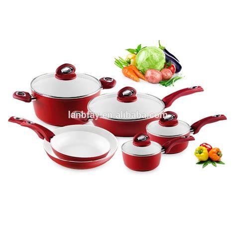 induction compatible ceramic cookware 10pcs sauce pan stock pot frying pan buy ceramic