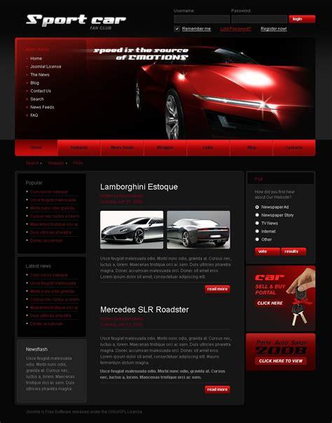 joomla club template car club joomla template 25085