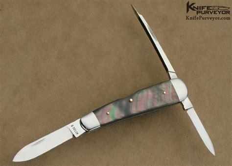 lobster pattern knife c gray taylor black lip pearl slipjoint knifepurveyor com