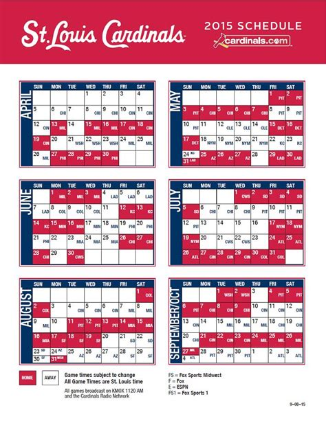 printable mlb schedule 2015 search results for 2016 st louis cardinals baseball