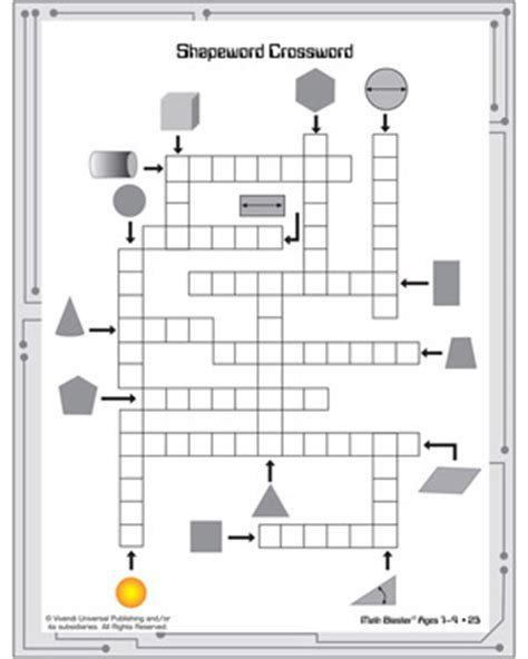 printable geometric puzzle 4 best images of geometry crossword puzzles printable