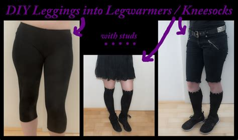diy knee high socks from tights diy into leg warmers knee socks