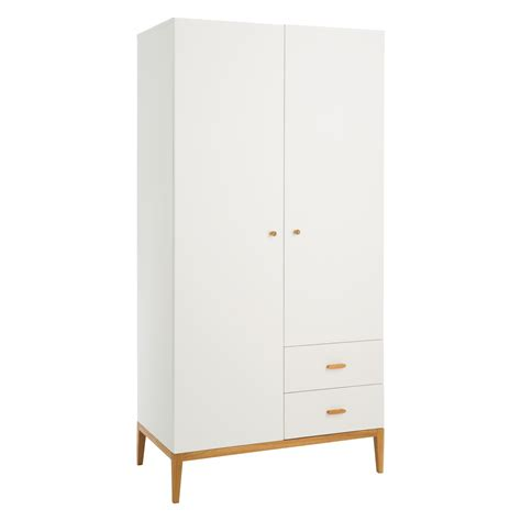 White Wardrobe Tatsuma White 2 Door Wardrobe Buy Now At Habitat Uk