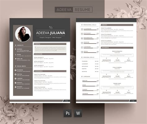 Modern Resume by Modern Resume Template Julianna Resume Templates