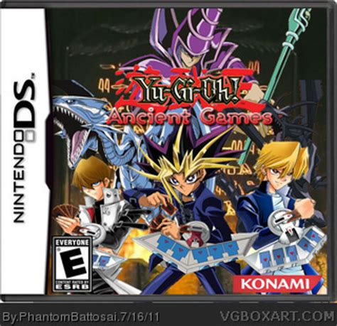 yu gi oh ancient games nintendo ds box art cover by