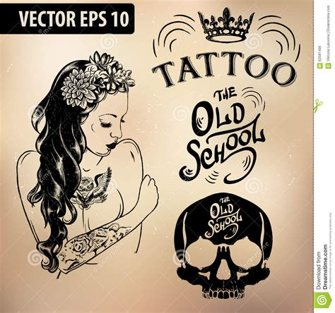 tattoo girl vector the gallery for gt flower sleeve tattoo drawings