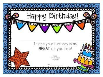 25 best ideas about birthday certificate on pinterest