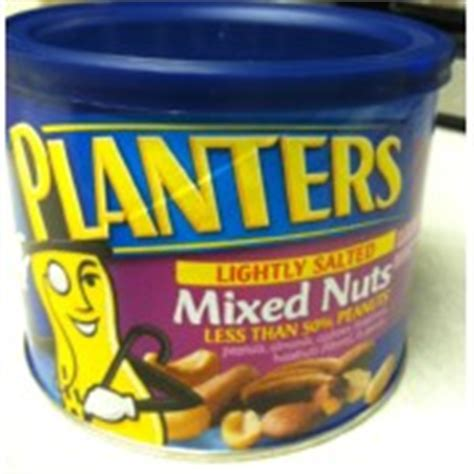 Planters Mixed Nuts Calories by Planters Mixed Nuts Less Than 50 Peanuts Lightly Salted