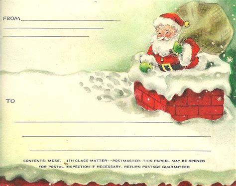 printable santa postcards 9 best santa letters images on pinterest christmas