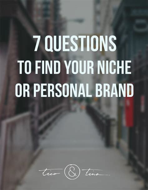 how to find your niche how to find your niche or personal brand part 2 tico tina