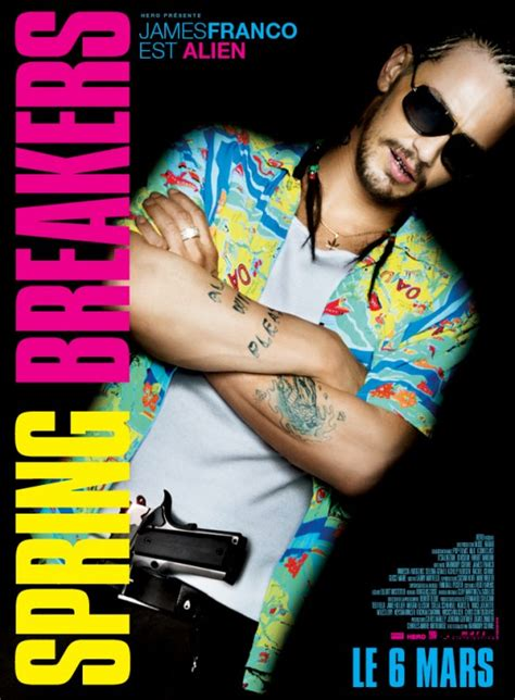 james franco spring breakers spring breakers posters feature selena gomez vanessa