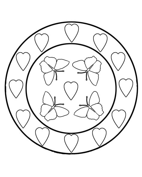 coloring pages of butterflies and hearts butterfly coloring pages