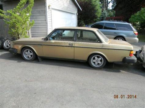 find used 1982 volvo 242 turbo gold leather automatic sedan sunroof gas seller in