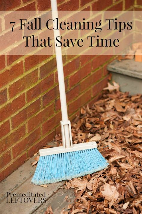 fall cleaning tips  save time