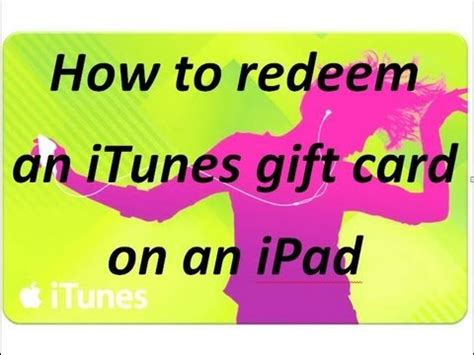 How To Add Itunes Gift Card On Ipad Mini - how to redeem an itunes gift card on an ipad youtube