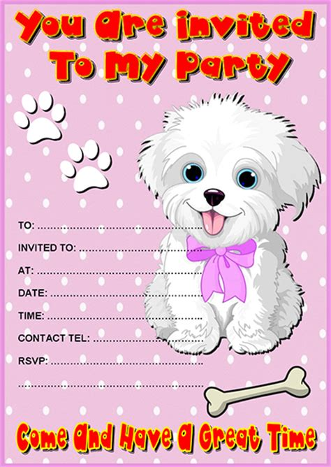puppy invitations invitations