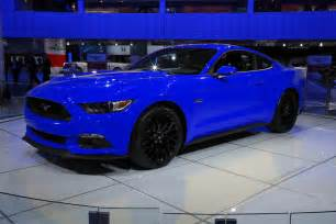 Blue Ford 2015 Ford Mustang Colored Cars