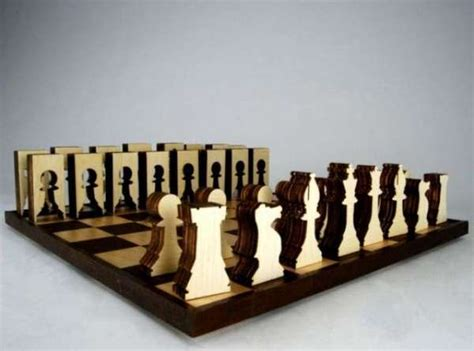 woodcut game sets sustainable chess set