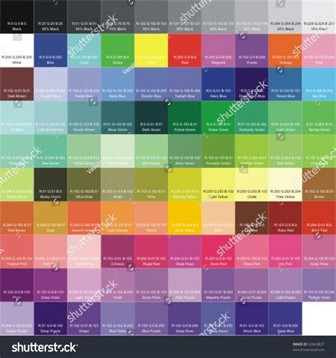 what is rgb color rgb color palette signatures colors stock vector 32663827