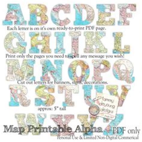 printable banner map map banner garland printable world map alphabet letters