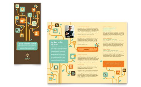leaflet design on word business services tri fold brochure template word