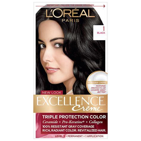 l oreal excellence creme permanent hair color medium ash brown 5 1 1 74 oz pack of 3 l oreal excellence creme permanent hair color black 1 walgreens
