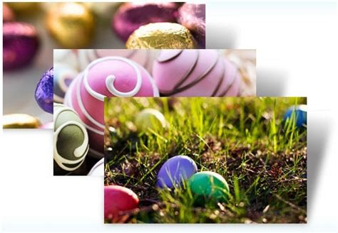 microsoft easter themes windows 7 themes decorated eggs ducklings and bunnies